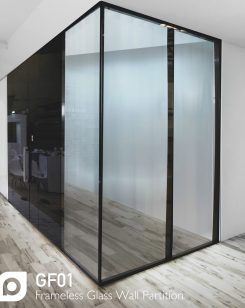 Frameless Glass Wall Partition
